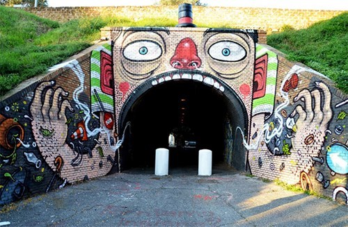 Street Art,design,graffiti,hacked irl,tunnel,funny