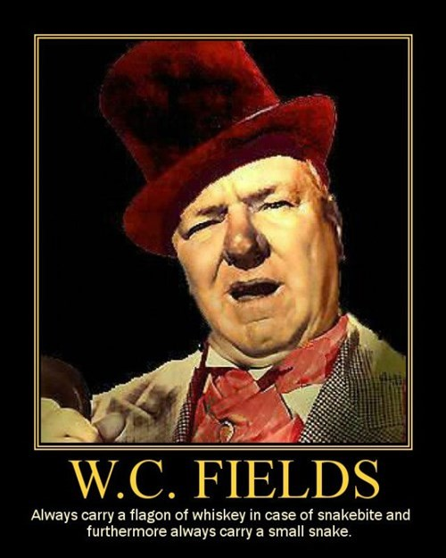 whiskey wc fields funny snake