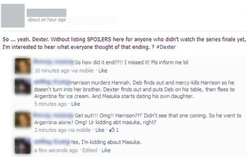 dexter season finale spoilers Dexter failbook