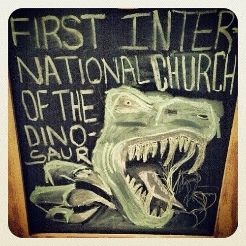 sign,funny,dinosaurs