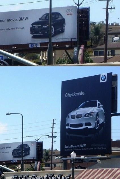 advertising audi cars bmw - 7817969920