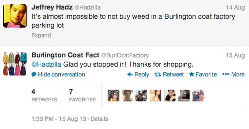 social media bots,burlington coat factory,weed