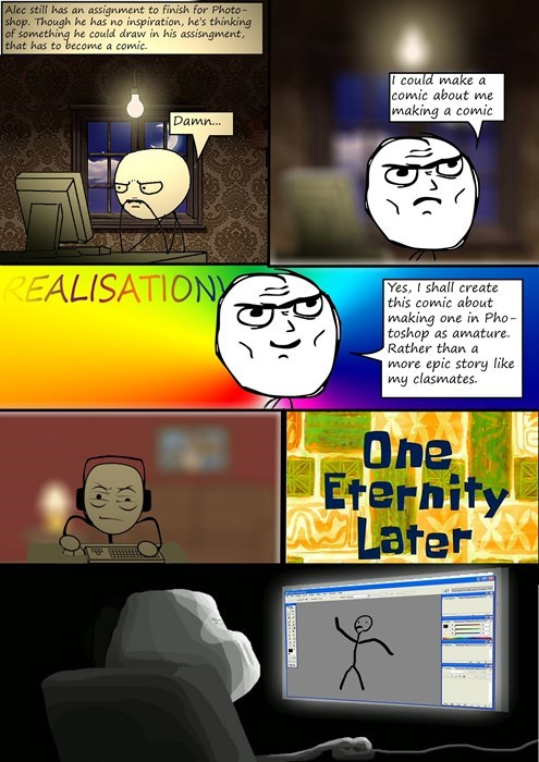 determined,making rage comics,photoshop