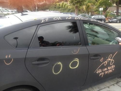 cars chalk art funny chalk - 7818187776