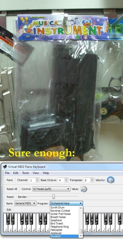 toy gun instrument - 7818278400
