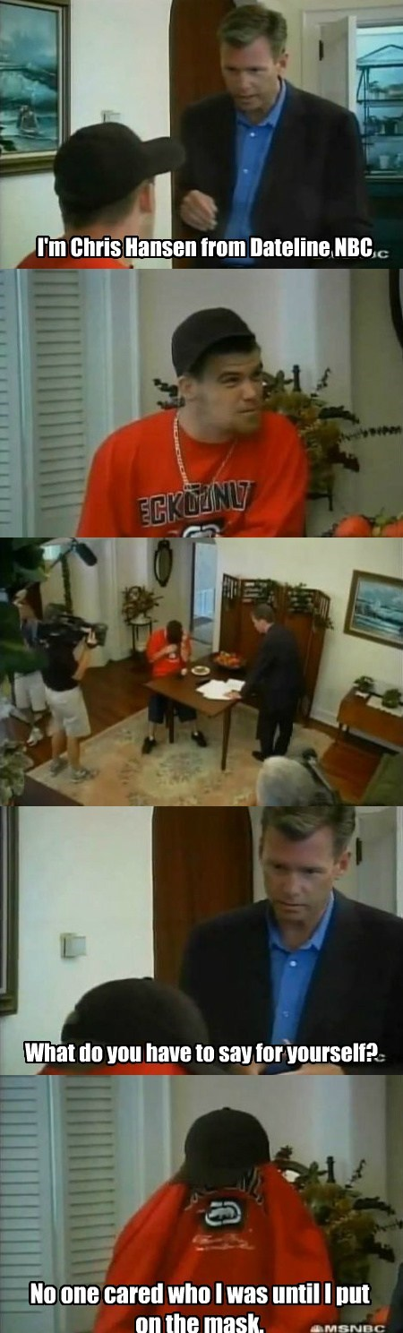 to catch a predator bane Chris Hansen funny - 7818294528