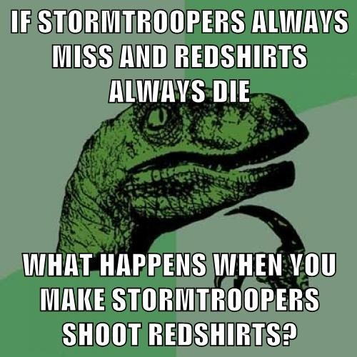 star wars,philosoraptor,Star Trek