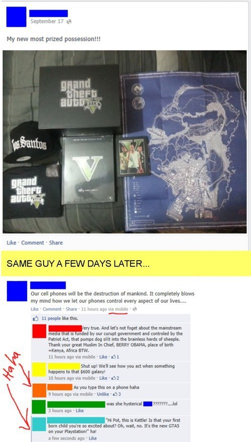GTA V,pot calling the kettle black,hypocrites,Hypocrisy