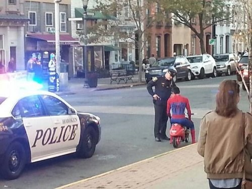 superheroes Spider-Man police