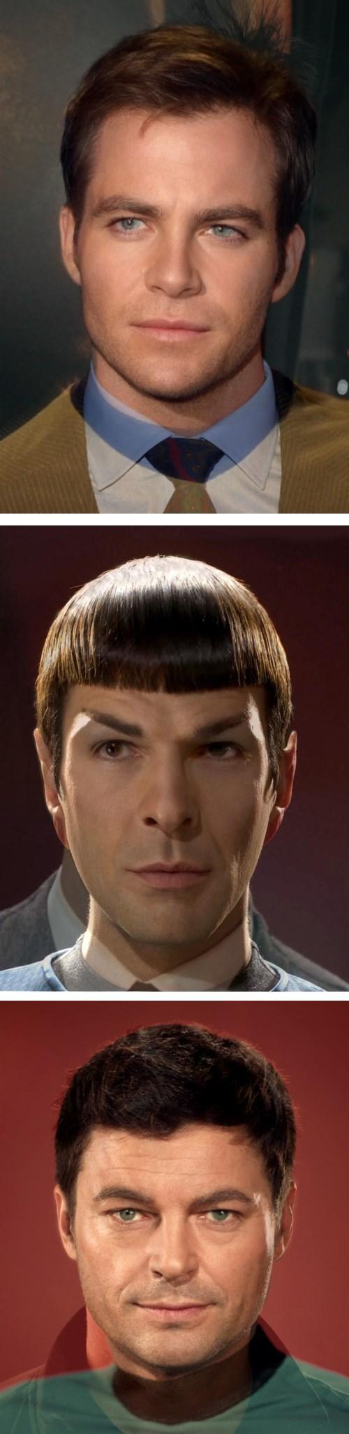 Spock,bones mccoy,kirk,Star Trek