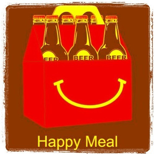 happy meal beer art funny - 7819675136