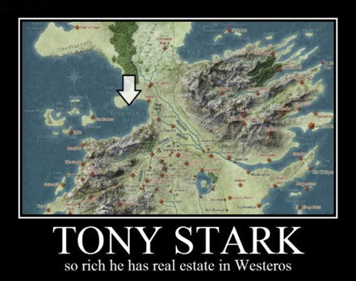 Game of Thrones tony stark ned iron man funny - 7819728896