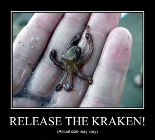 kraken tiny octopus funny animals - 7819757568