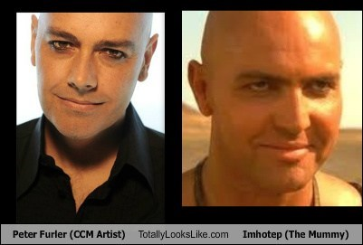 imhotep,totally looks like,funny,peter furler