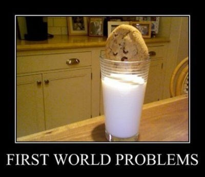 milk First World Problems funny cookies - 7819852288