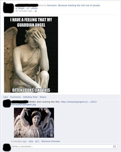 weeping angels,facebook,doctor who,guardian angels