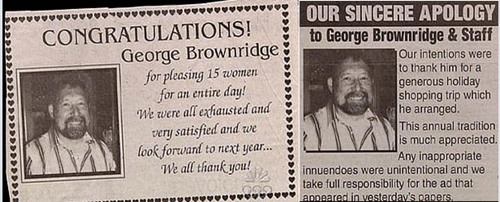 whoops typo funny newspaper g rated dating - 7819959808