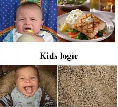 Babies parenting sand food funny g rated