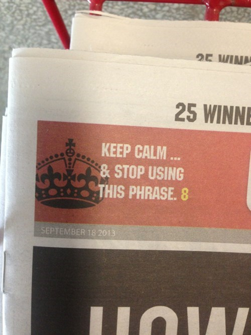 headline funny keep calm true facts newspaper