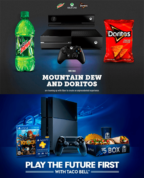 taco bell,PlayStation 4,consoles,sponsors,doritos,xbox one