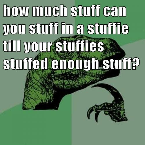 How Much Stuff Can You Stuff In A Stuffie Till Your Stuffies Stuffed