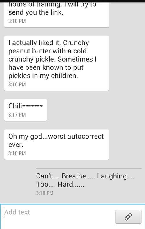 autocorrect text pickles funny AutocoWrecks