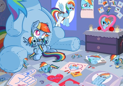 narcissism pony rainbow dash - 7821096192