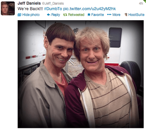 twitter,dumb and dumber to,jeff daniels,jim carrey