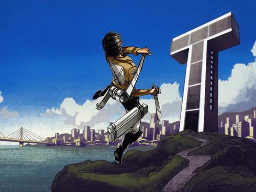crossover anime Fan Art teen titans attack on titan - 7821174016