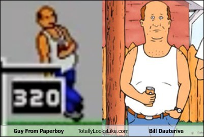 bill dauterive,totally looks like,paperboy,funny