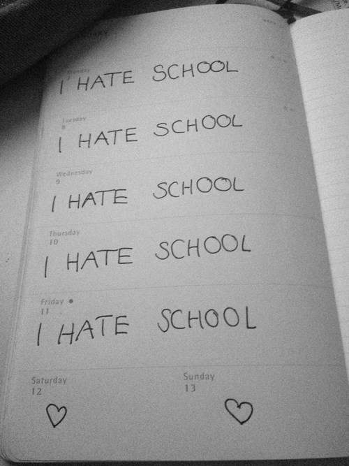 hate,school,calendar,week,funny