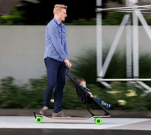 Babies skateboards parenting funny strollers - 7821298688