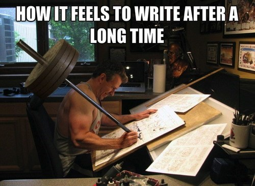 how it feels,weights,writing