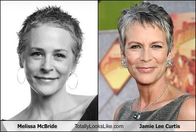 jamie lee curtis,melissa mcbride,totally looks like,funny