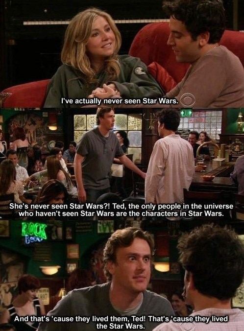 star wars how i met your mother nerdgasm funny - 7821612800
