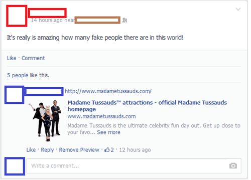 fake people,madame tussaud's