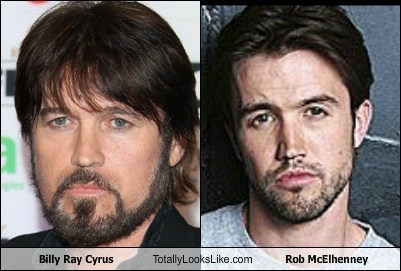 Billy Ray Cyrus,totally looks like,rob mcelhenney,beards,funny