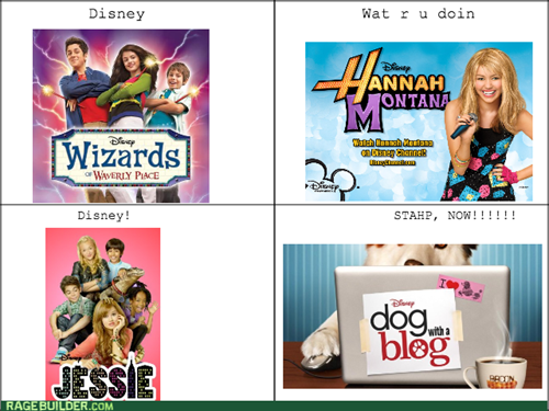 jessie,wizards of waverly place,hannah montana,dog with a blog