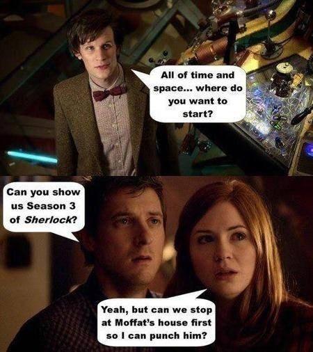 doctor who Sherlock bbc Steven Moffat - 7822455296