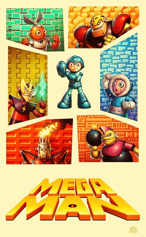 art,tribute,mega man