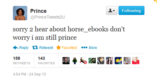 twitter,horse ebooks,prince