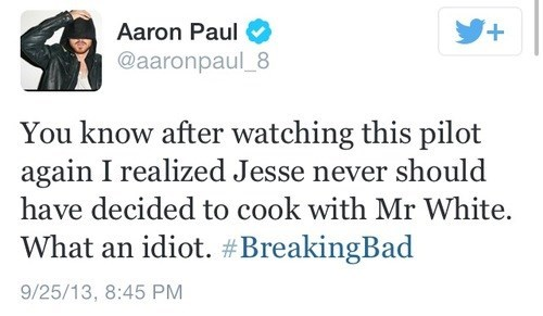 aaron paul twitter breaking bad - 7822920960