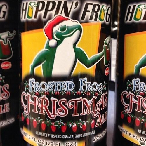 christmas beer hoppin-frog funny - 7822945024