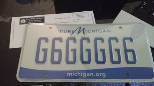 michigan license plates - 7822981120