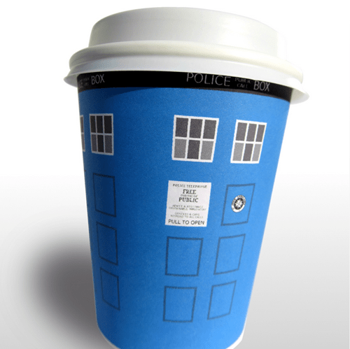 tardis doctor who coffee DIY