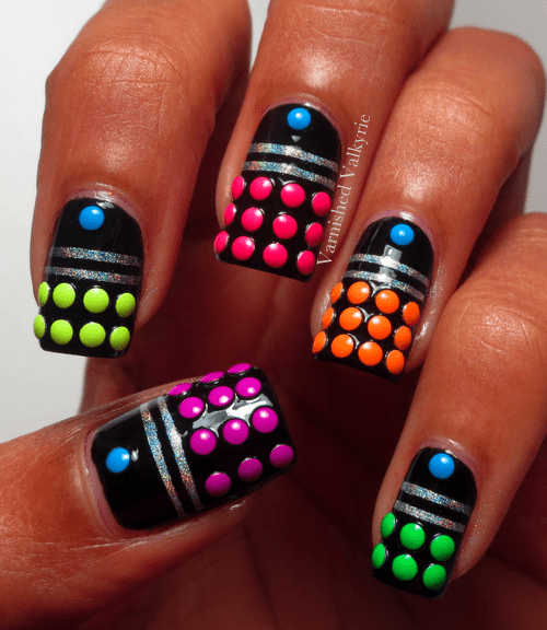 daleks,doctor who,nail art