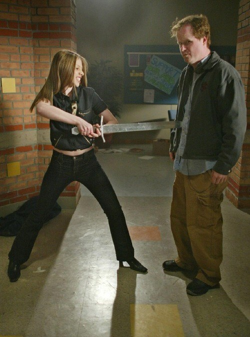 behind the scenes michelle trachtenberg Buffy the Vampire Slayer Joss Whedon - 7823205632