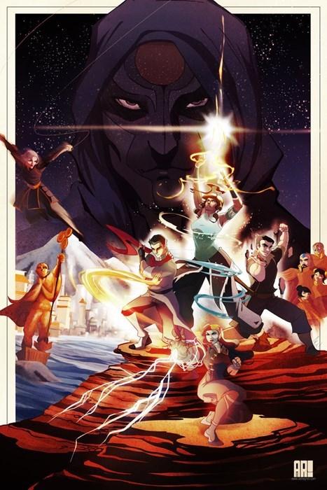 crossover star wars Fan Art cartoons Avatar korra - 7823219456