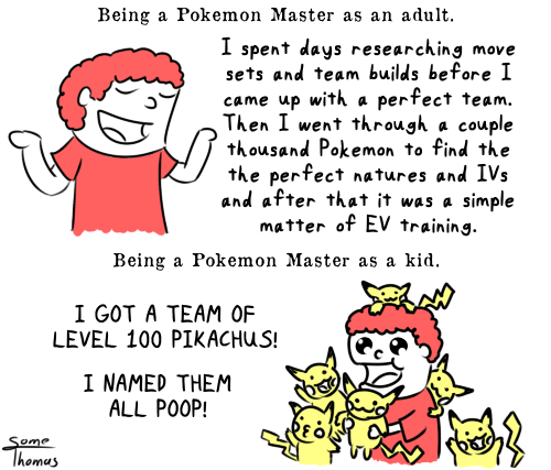 You Play Pokémon Differently Depending on Your Age