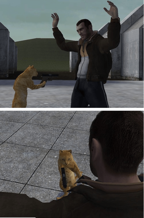 guns,wtf,gta iv,Cats